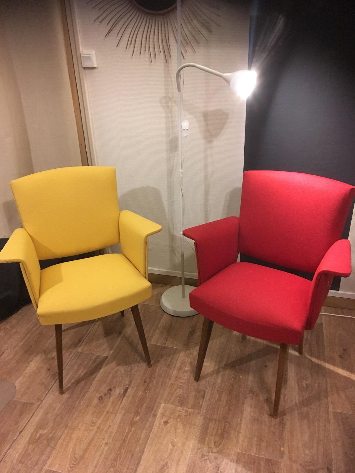 fauteuil moderne tissu feutrine