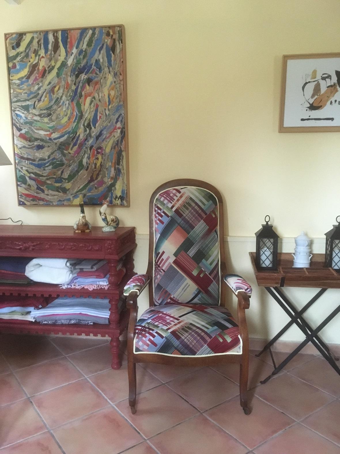fauteuil Voltaire modernisé