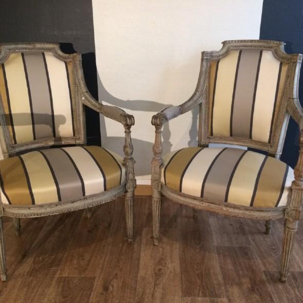paire fauteuil Louis XVI